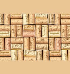 wine bottle cork pattern vector image