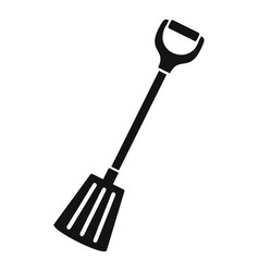 winter spade icon simple style vector image