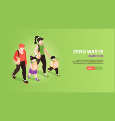 zero wasting family banner vector image