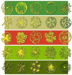A set of treetop symbols vector image vector image