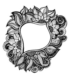 adult coloring frame vector image