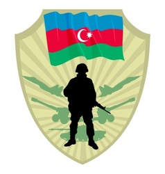 Army of Azerbaijan vector image vector image