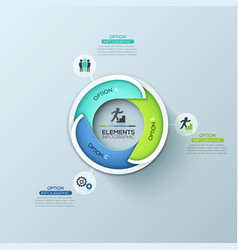 creative circular infographic design template with vector image