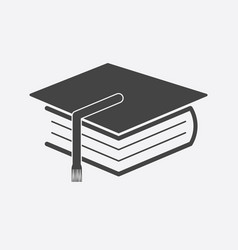 education and book flat icon vector image