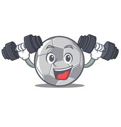 fitness football character cartoon style vector image