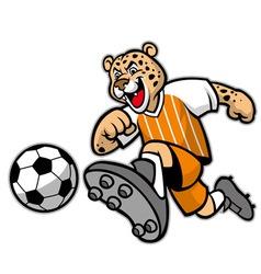 leopard football mascot vector image