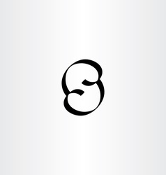 letter s calligraphy icon logo vector image