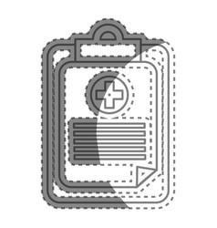 Silhouette hospital prescription pad icon vector