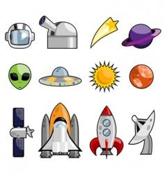 space design elements vector image