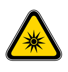 Triangular warning hazard symbol vector