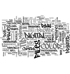 when good color goes bad text word cloud concept vector image vector image