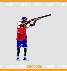 Athlete Shooter vector image