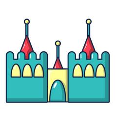 bouncy castles icon cartoon style vector image vector image