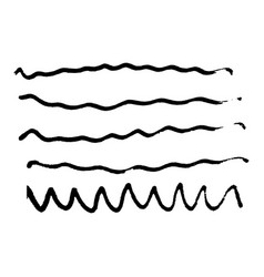 brush stroke hand drawn marker vector image