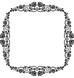 frame roses vector image vector image