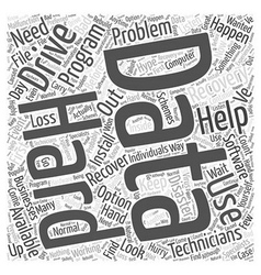Help with data recovery word cloud concept vector