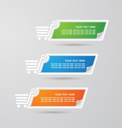 Label Colorful Paper shopping set vector image vector image