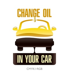 Oil Change in Your Car vector image vector image