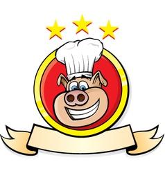 pig chef head vector image vector image