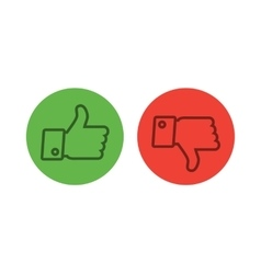 Thumb up icons set vector image vector image