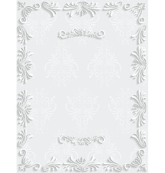 White Vintage Background with Floral vector image