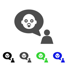 baby thinking person flat icon vector image