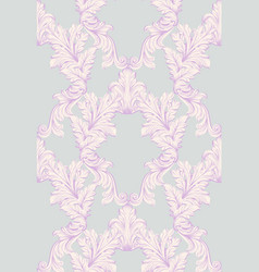 baroque damask background ornament decor for vector image