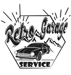 garage label auto service vector image vector image