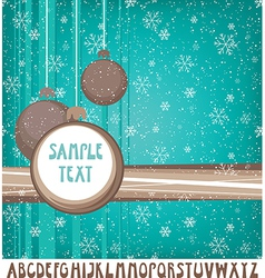 New Years card with set of retro letters vector image