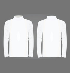 white high neck long sleeve t shirt vector image vector image