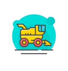 Combine harvester concept vector image
