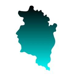 Map of Vorarlberg vector image vector image
