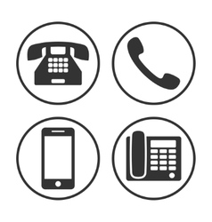Set of simple phone icon vector image vector image