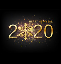 2020 new year background holiday label with vector image