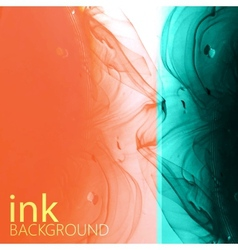 Abstract background of fluid ink swirling in water vector