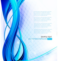 abstract blue neon elegant background with design vector image