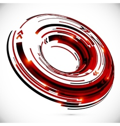 abstract techno 3D circle background vector image