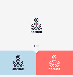 Anchor logo template vector
