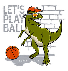 athletic dino 004 vector image