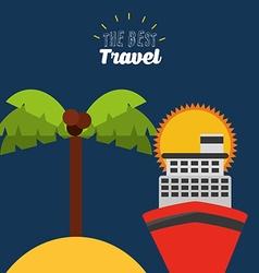 best travel design vector image