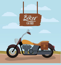 biker culture poster with classic vintage vector image