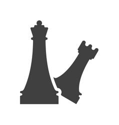 Black and white chess element template vector