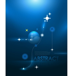 blue galaxy background vector image