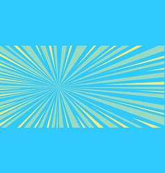 Blue rays pop art background vector