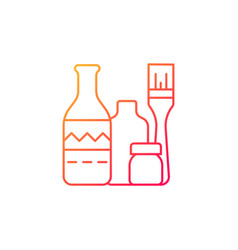 Bottle painting gradient linear icon vector