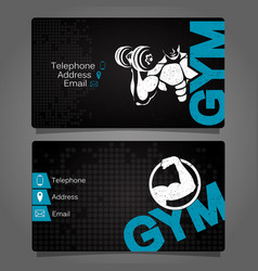 Business card gym vector