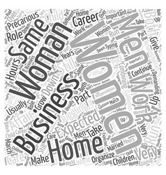 business woman Word Cloud Concept vector image
