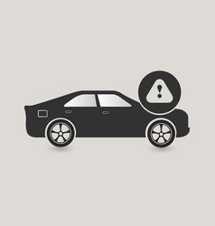 Car caution icon vector
