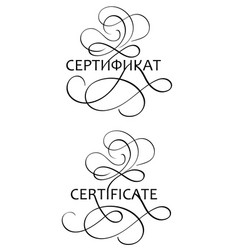 Certificate word with flourish on white background vector