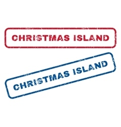 Christmas Island Rubber Stamps vector image
